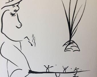 """Ink, 15x21cm, original artwork """"GaÏa"""""""