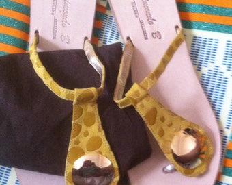 Raimondo Italian leather yellow mustard slippers