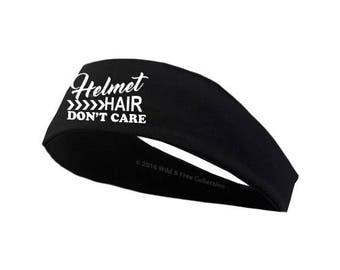 Helmet Hair Don't Care Headband   Motorcycle Headband   Dirt Bike Headband   Horseback riding headband   Cycling headband
