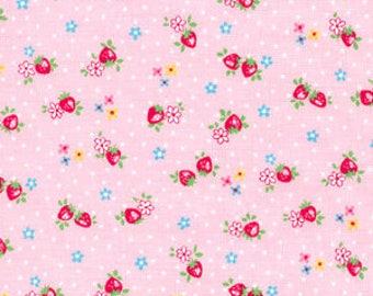 1/2 yard Yuwa Atsuko Matsuyama Japan - Petit Berry - AT826346 - Colorway A - Pink