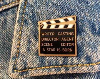 "Enamel Pin ""A star is born"" 90's Retro Vintage"