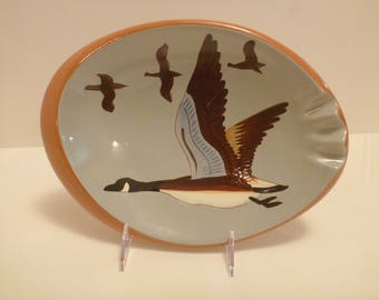 Stangl Canada Goose Oval Ashtray #3926