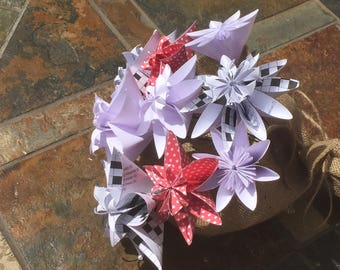 "Paper flower bouquet - ""Crossword"""