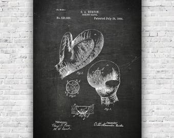 Boxing Gloves US Patent- Industrial Art - Inspirational Print Art - Wall Art, Gym Art, work out, gymspiration. crossfit