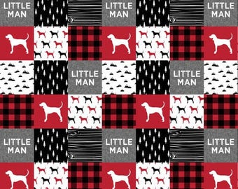 Little man red buffalo quilt, minky quilt, nursery, boy nursery, adventure, modern nursery, toddler quilt