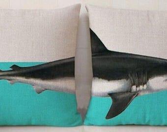 Shark Pillow, Animal Pillow, Pillow Case, Shark