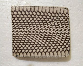 Snake Skin Wallet. Handmade Snake Skin Leather Wallet. Mens Bifold Wallet. Free Shipping