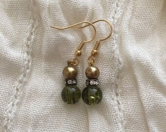 Green&Gold Earrings
