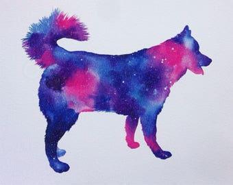 Galaxy Husky Print