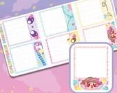 Biggie Full Box Fluffy Picture Boxes || Planner Stickers, Cute Stickers for Erin Condren (ECLP), Filofax, Kikki K, Etc. || BSS31