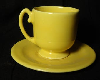 Vintage Pacific Pottery Demi Cup and Saucer