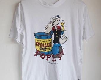 CLEARANCE SALE 35% Vintage Popeye The Sailor Man Cartoon T-Shirt Medium