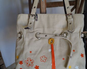 Orange flower handbag