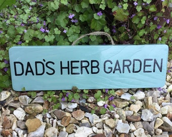 Personalised herb garden sign- plaque- garden decor- rustic sign- wall art- wooden sign-wooden plaque