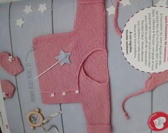 page knit kimono Cardigan