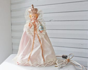 Vintage Blowmold  Infant of Prague Lamp-Light-Figurine-Religious Statue-Night Light-T.V Light