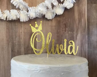Princess cake topper/custom name cake topper/princess party/princess birthday party