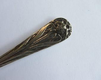 Antique silver plate butter knife, Art Nouveau, Elkington & Co. Edwardian. Downton Abbey, wedding shower, country house chic