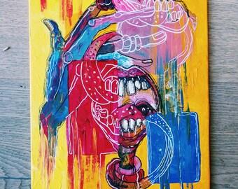 Disfemia - Acrylics on canvas