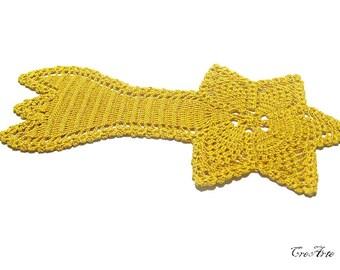 Crochet Christmas comet, Original Christmas doily, Centrino Stella Natale