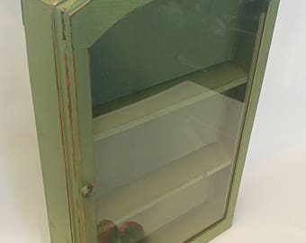 Farmhouse Spice Rack,cottage Spice Cabinet, Spice Cabinet, Painted Spice  Rack, Vintage