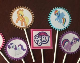 My Little Pony Cupcake Toppers, My Little Pony party, My Little Pony birthday