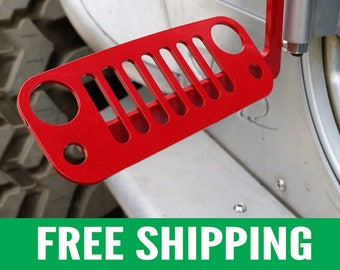 Jeep Foot Pegs for JK Wrangler | Red Pair