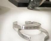 DM Fan Takeover Personalized Cuff Bracelet
