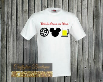 Disney Inspired Drinking around the world Shirt