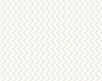 Moda MUSLIN MATES Quilt Fabric 1/2 Yard - Chevron White Zig Zag 9973 11
