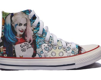 Harley Quinn custom shoes / We can add any inscription you want