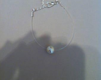 Pearl finish silver nylon thread
