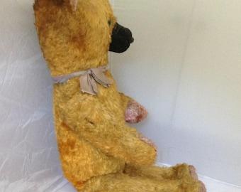 OOAK Teddy Bear French Vintage Bear Mohair 1930s Toys Teddy Bear French Bear ( Ref No. A310 )