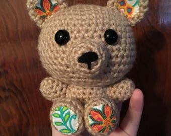 MADE TO ORDER handmade crochet amigurumi art toy stuffed animal toy teddy bear plushie