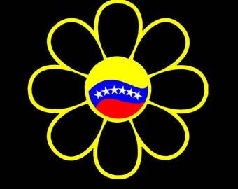 Venezuela flower Car sticker