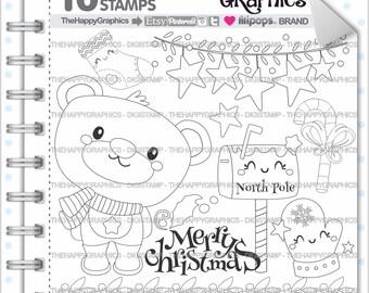 Christmas Stamp 80OFF COMMERCIAL USE Digi Digital Image