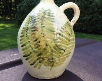 Fern Leaves Art Jug by Wickey Pottery 1980