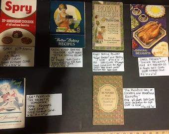 LOT of 6 Vintage Cookbooks 1911-1955
