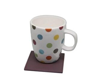 Meredith Lambskin Leather Tea Coasters