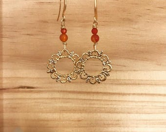 Indian princess earrings ~ smaller size