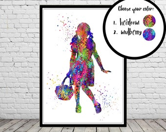 Wizard Of Oz Dorothy inspired, Wizard of Oz, Dorothy, Watercolor Dorothy, Watercolor print, Wall decor, Kids Room Decor, Poster (1061,3590b)