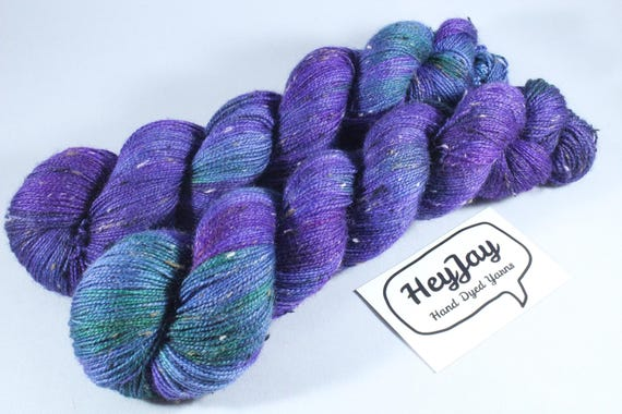 Donegal Tweed Sock Yarn, Bluefaced Leicester Wool - Oilslick