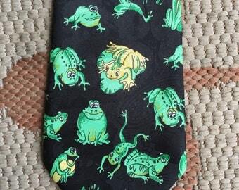 Vintage frog necktie
