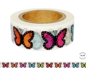 Washi Tape BUTTERFLY colorful
