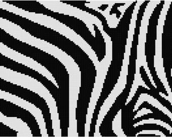 Zebra cross stitch pattern,Easy cross stitch,Modern cross stitch,Pdf download #30
