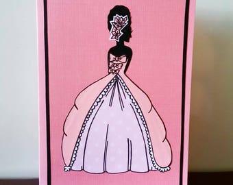 "Greeting Card ""Antoinette"""