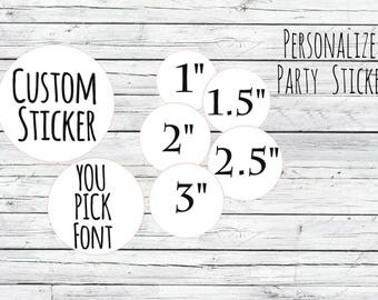 Custom Stickers Personalized Mason Jar Labels Stickers, Wedding Favor Labels, Product Labels,Round Labels Stickers Favors, Thank You Labels,