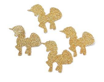 Unicorn confetti - glitter and white decoration