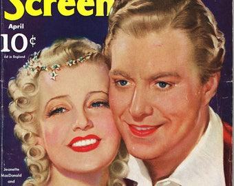 Silver Screen magazine - April 1940 - Jeanette MacDonald and Nelson Eddy