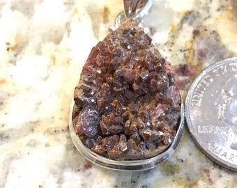 Rare Vanadinite Mineral Pendant Necklace